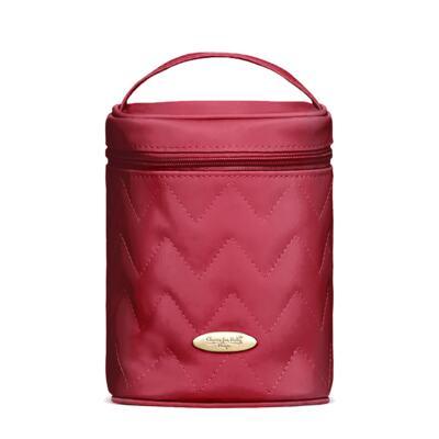 Imagem 3 do produto Bolsa maternidade para bebe Gênova + Frasqueira Térmica Firenze Chevron Rubi - Classic for Baby Bags