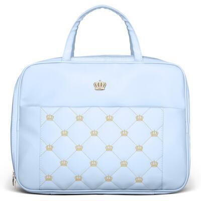 Imagem 2 do produto Mala Maternidade + Bolsa Elizabeth + Bolsa Térmica Elizabeth + Trocador Portátil para bebe Queen Light Blue - Classic for Baby Bags
