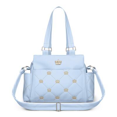 Imagem 4 do produto Mala Maternidade + Bolsa Elizabeth + Bolsa Térmica Elizabeth + Trocador Portátil para bebe Queen Light Blue - Classic for Baby Bags