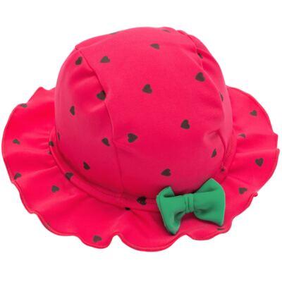 Imagem 5 do produto Conjunto de banho Strawberry: Maiô + Chapéu - Cara de Criança - KIT1-1253: MB1253 MAIO + CH1253 CHAPEU MORANGUINHO-M