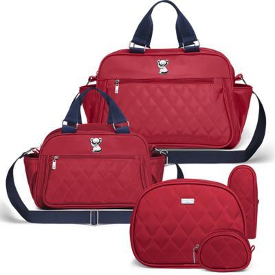 Imagem 1 do produto Bolsa maternidade para bebe Martinica + Frasqueira Térmica Guadalupe + Kit Acessórios Colors Cherry - Classic for Baby Bags