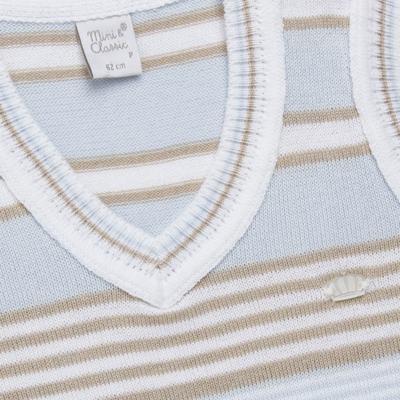 Imagem 2 do produto Colete para bebe em tricot Stripes  - Mini & Classic - 4508656 PULOVER LISTRADO TRICO URSO-P