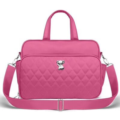 Imagem 2 do produto Kit Bolsa maternidade para bebe Montserrat + Frasqueira Térmica Guadalupe Colors Pink - Classic for Baby Bags