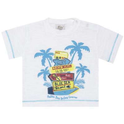 Imagem 2 do produto Camiseta c/ Bermuda em malha Maverick - Tilly Baby - TB166303 CONJ MASC TACTEL COQUEIROS-P