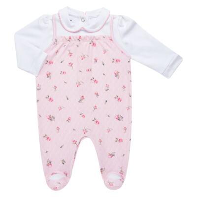 Imagem 2 do produto Jogo Maternidade com Macacão e Manta em algodão egípcio Flora - Bibe - 39Z06-G78 CJ MATERNIDADE FLORES-RN