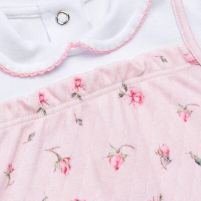 Imagem 3 do produto Jogo Maternidade com Macacão e Manta em algodão egípcio Flora - Bibe - 39Z06-G78 CJ MATERNIDADE FLORES-RN