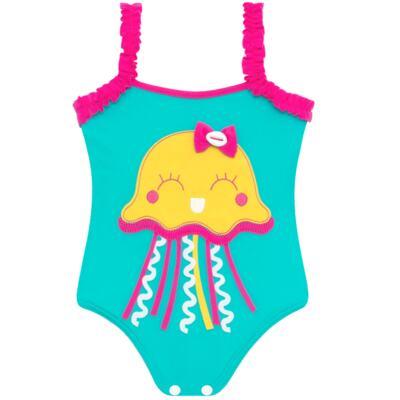 Imagem 2 do produto Conjunto de banho Jellyfish: Maiô + Chapéu - Cara de Criança - KIT1-1264: MB1264 MAIO + CH1264 CHAPEU AGUA VIVA-P