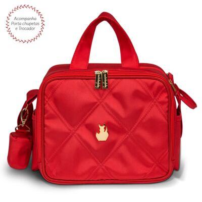 Imagem 1 do produto Bolsa térmica organizadora para bebe Classic Nylon Cereja - Masterbag - MB11CLNY206.14 SACOLA TÉRMICA NYLON CLASSIC CEREJA
