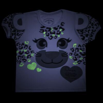 Imagem 5 do produto Pijama curto que Brilha no Escuro Onça Pintada - Cara de Criança - U1820 ONCA PINTADA PIJAMA-CURTO M/MALHA -1