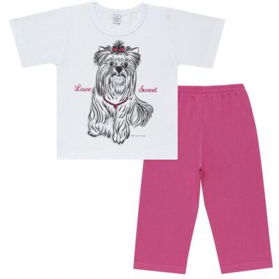 Imagem 1 do produto Pijama Curto em malha Cachorrinha - Cara de Sono - C2005 DOG LOVE C PJ-MG CURTA C/CALCA M/MALHA-2