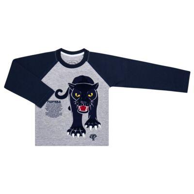 Imagem 2 do produto Pijama longo que Brilha no Escuro Panther - Cara de Criança - L2289 PANTERA L PJ LONGO M/MALHA -1