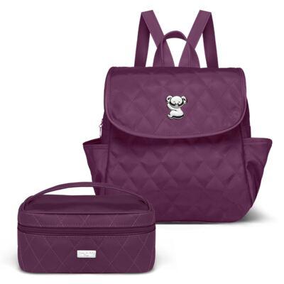 Imagem 1 do produto Mochila maternidade + Necessaire Farmacinha Colors Grape  - Classic for Baby Bags