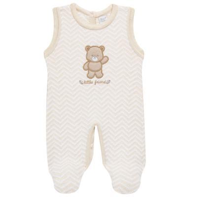 Imagem 4 do produto Jardineira c/ Body longo para bebê em tricot Nature Little Friends - Mini & Classic - 1606650 JARDINEIRA C/ BODY TRIC/SUED NATURE-RN