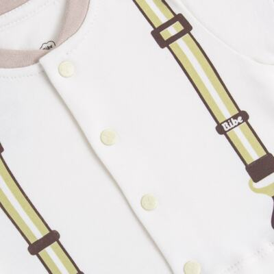 Imagem 2 do produto Macacão curto para bebe em algodão egípcio Suspensório - Bibe - 39C31-G91 MAC MASC MC SUSPENSORIO-P
