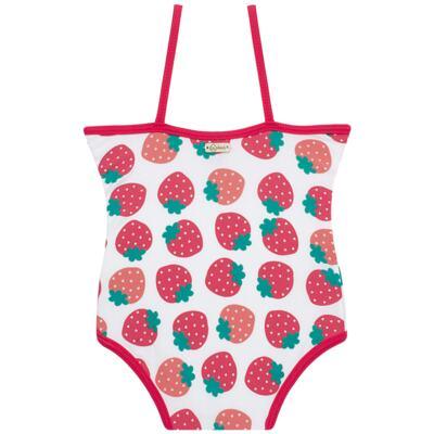 Imagem 3 do produto Conjunto de banho Strawberry: Maiô + Chapéu - Cara de Criança - KIT1-1253: MB1253 MAIO + CH1253 CHAPEU MORANGUINHO-P