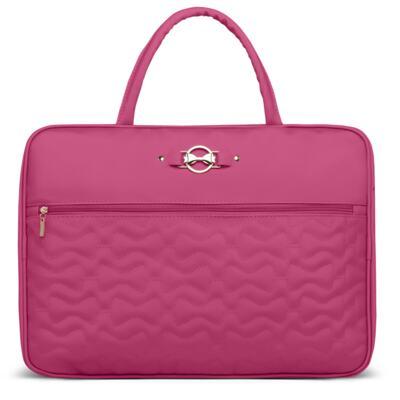 Imagem 2 do produto Mala Maternidade para bebe + Bolsa Liverpool + Frasqueira Térmica Melrose + Kit Acessórios Laços Matelassê Pink - Classic for Baby Bags
