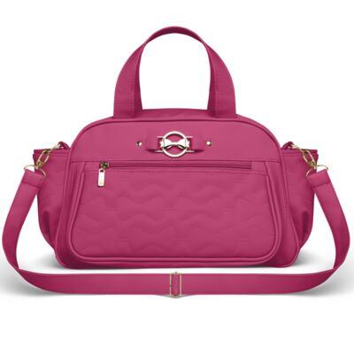 Imagem 4 do produto Mala Maternidade para bebe + Bolsa Liverpool + Frasqueira Térmica Melrose + Kit Acessórios Laços Matelassê Pink - Classic for Baby Bags