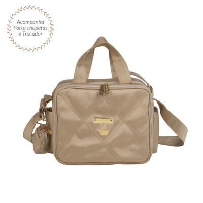 Imagem 1 do produto Bolsa térmica organizadora para bebe Caqui Classic Golden - Masterbag - MB11CLYG206.02 SACOLA TÉRMICA NYLON CLASSIC GOLDEN CAQUI