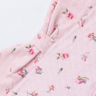 Imagem 7 do produto Jogo Maternidade com Macacão e Manta em algodão egípcio Flora - Bibe - 39Z06-G78 CJ MATERNIDADE FLORES-P