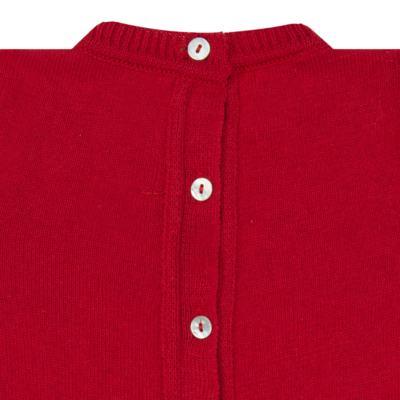 Imagem 3 do produto Jardineira com Body longo para bebe em tricot Love Sailor - Mini Sailor - 17354443 Jardineira Longa c/ Body Tricot Vermelho-NB