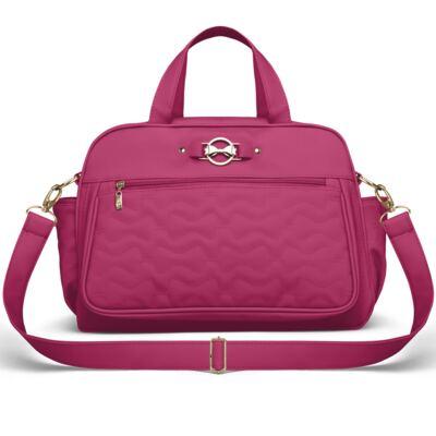 Imagem 3 do produto Mala Maternidade para bebe + Bolsa Liverpool + Frasqueira Térmica Melrose + Térmica Firenze + Trocador Laços Matelassê Pink - Classic for Baby Bags