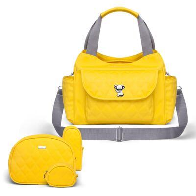 Imagem 1 do produto Kit Acessórios para bebe + Bolsa Havana Colors Yellow - Classic for Baby Bags