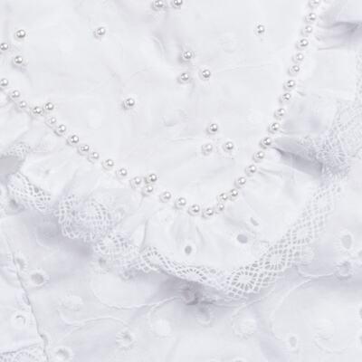 Imagem 2 do produto Jardineira para bebe em laise Pérolas Deluxe - Roana - JL000927001 Jardineira Luxo Branco-G