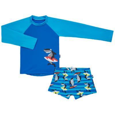 Imagem 1 do produto Conjunto de banho Tubarão: Camiseta + Sunga - Puket - KIT PK TUBARAO Camiseta + Sunga Tubarao-6