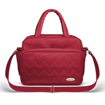 Imagem 3 do produto Bolsa maternidade para bebe Turin + Frasqueira Térmica Trento +  Frasqueira Térmica Firenze + Trocador Portátil Chevron Rubi - Classic for Baby Bags