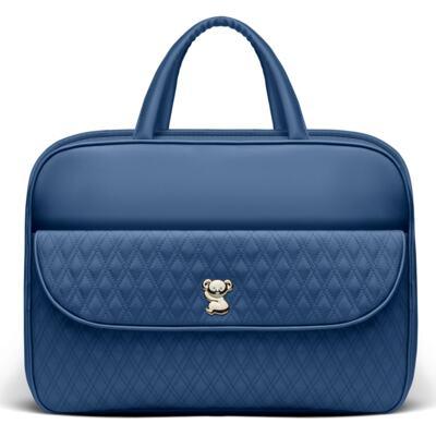 Imagem 2 do produto Kit Mala Maternidade para bebe + Bolsa Mônaco + Frasqueira Térmica Nice Golden Koala Marinho - Classic for Baby Bags