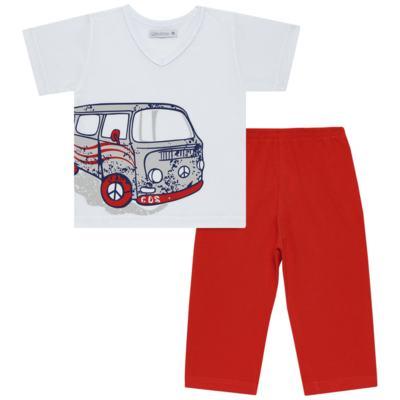 Imagem 1 do produto Pijama Curto em malha Kombi - Cara de Sono