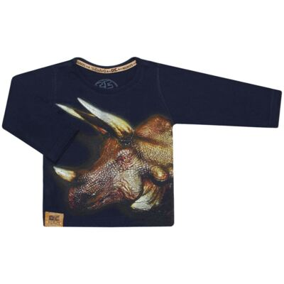 Imagem 1 do produto Camiseta longa em malha Tricerátopo - CDC Tshirt