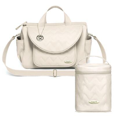 Imagem 1 do produto Bolsa maternidade para bebe Gênova + Frasqueira Térmica Firenze Chevron Àgata - Classic for Baby Bags