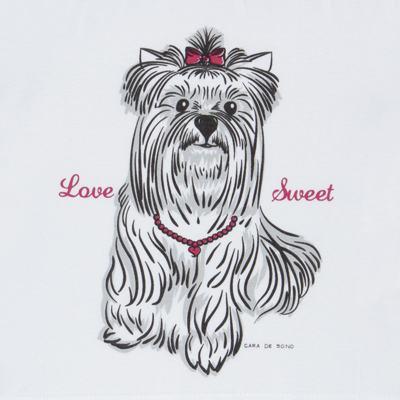 Imagem 3 do produto Pijama Curto em malha Cachorrinha - Cara de Sono - C2005 DOG LOVE C PJ-MG CURTA C/CALCA M/MALHA-1