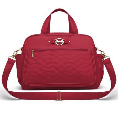 Imagem 3 do produto Mala Maternidade para bebe + Bolsa Liverpool + Frasqueira Térmica Melrose + Térmica Firenze + Trocador Laços Matelassê Cereja - Classic for Baby Bags
