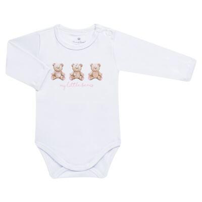 Imagem 3 do produto Pack: 02 Bodies longos para bebe em algodão egípcio c/ jato de cerâmica Princess Bear - Mini & Classic - 1023655 PACK 2 BODIES ML SUEDINE URSA-M