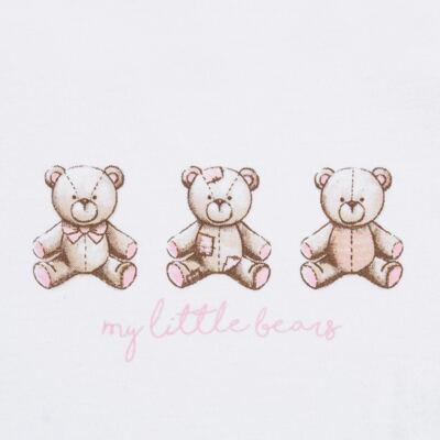 Imagem 4 do produto Pack: 02 Bodies longos para bebe em algodão egípcio c/ jato de cerâmica Princess Bear - Mini & Classic - 1023655 PACK 2 BODIES ML SUEDINE URSA-P