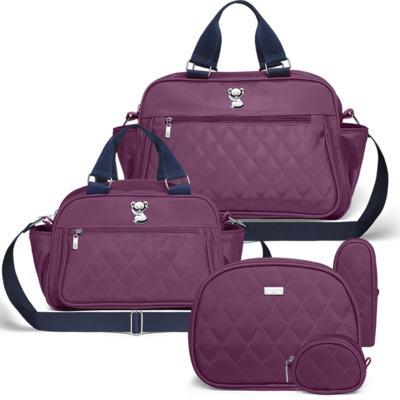 Imagem 1 do produto Bolsa maternidade para bebe Martinica + Frasqueira Térmica Guadalupe + Kit Acessórios Colors Grape - Classic for Baby Bags