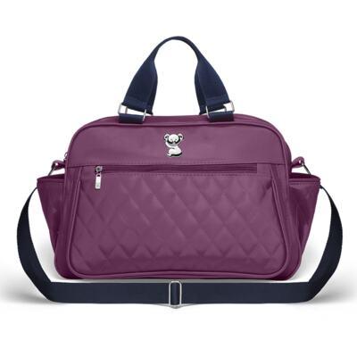 Imagem 2 do produto Bolsa maternidade para bebe Martinica + Frasqueira Térmica Guadalupe + Kit Acessórios Colors Grape - Classic for Baby Bags