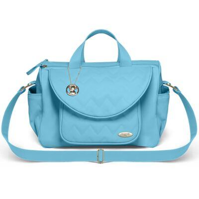 Imagem 2 do produto Bolsa maternidade para bebe Gênova + Frasqueira Térmica Nápoli + Frasqueira Térmica Firenze + Trocador Chevron Turmalina - Classic for Baby Bags