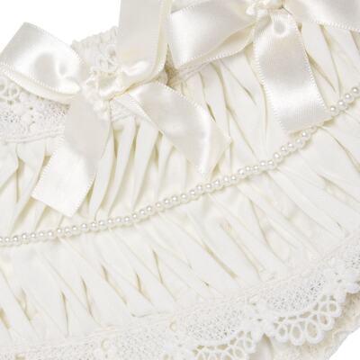 Imagem 2 do produto Calcinha para bebê em tricoline Renda Laços & Pérolas Marfim - Roana - CLLU0616031 Calcinha Luxo Laço Pérolas Marfim -P