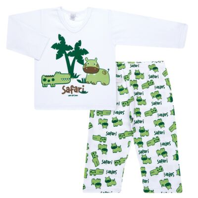 Imagem 1 do produto Pijama longo em malha Safari - Cara de Sono - L2456 SAFARI L PJ-LONGO M/MALHA-2
