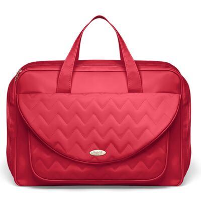 Imagem 2 do produto Mala Maternidade para bebe + Bolsa Turin + Frasqueira Térmica Trento Chevron Rubi - Classic for Baby Bags