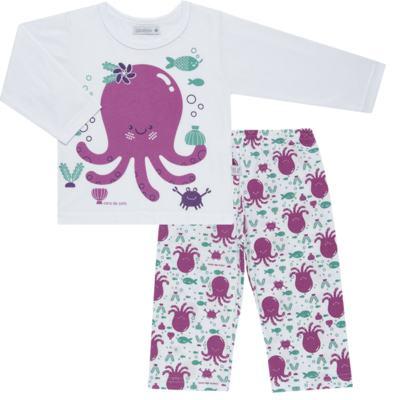 Imagem 1 do produto Pijama longo em malha Polvinha - Cara de Sono - L1994 POLVA L PJ-LONGO M/MALHA -2