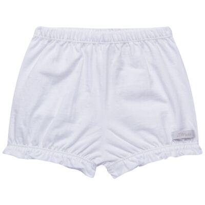 Imagem 1 do produto Shorts balonê para bebe em malha Branco - Tilly Babys - TB13105.01 SHORT BALONE MEIA MALHA BRANCO-P