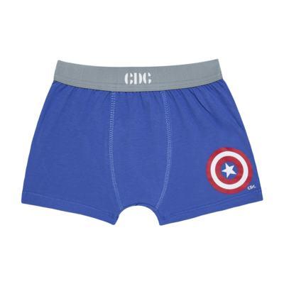 Imagem 2 do produto Kit com 2 Cuecas Boxer Captain America - Cara de Criança - KK2221 BIEL AMERICA KK2 KIT CUECA 2PÇS M/MALHA-G