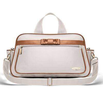 Imagem 3 do produto Kit Mala Maternidade + Bolsa Viagem Oxford + Frasqueira Térmica Kent + Kit Acessórios + Trocado Portátil Laço Caramel Caqui - Classic for Baby Bags