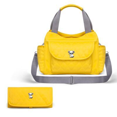 Imagem 1 do produto Kit Bolsa maternidade para bebe Havana + Trocador Portátil Colors Yellow - Classic for Baby Bags