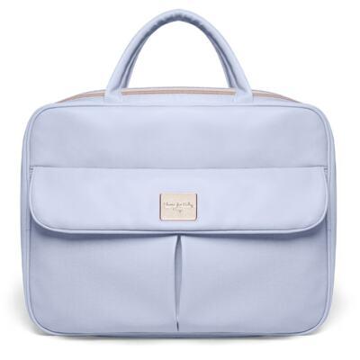 Imagem 2 do produto Mala Maternidade para bebe + Bolsa Marselle + Frasqueira Térmica Toulousse + Necessaire + Trocador Nácar Azul  - Classic for Baby Bags