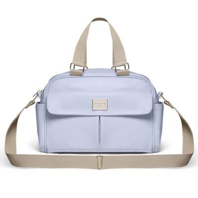 Imagem 3 do produto Mala Maternidade para bebe + Bolsa Marselle + Frasqueira Térmica Toulousse + Necessaire + Trocador Nácar Azul  - Classic for Baby Bags